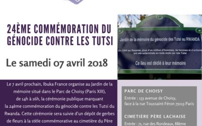 Invitation à la commémoration du génocide commis contre les Tutsi