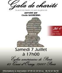 Invitation au Gala de Charité ce 7 juillet 2018